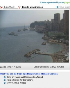 Monte Carlo live webcam