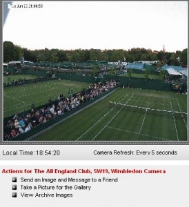 Live Wimbledon 2009 Tennis weather cam