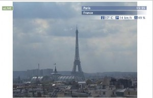 Live Paris streaming webcam views in France